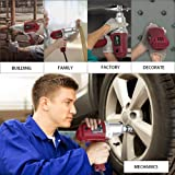 """Topcraft 7.5 Amp 1/2"""" Electric Impact Wrench with"""