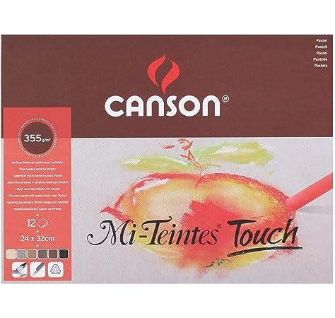23cm  x 30cm , White White with Canson Mi-Teintes Pastel Paper Pad
