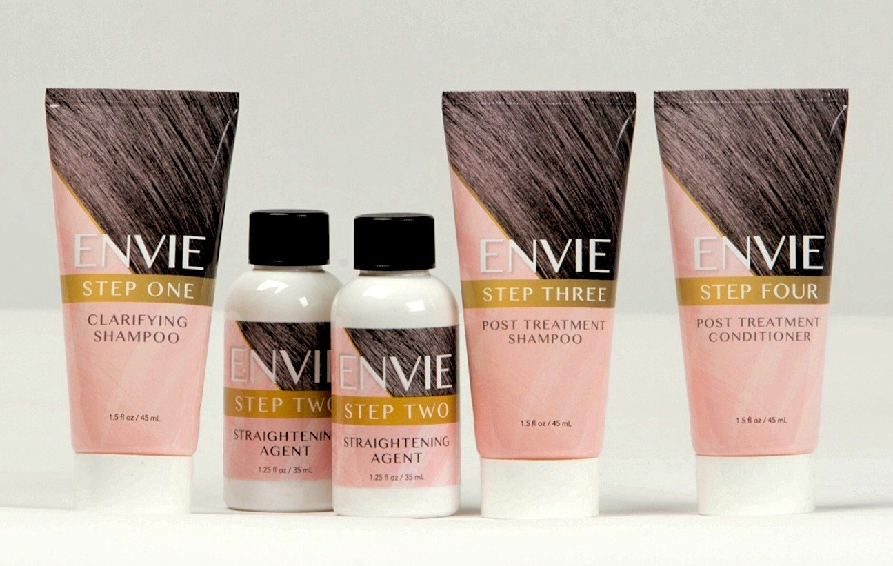ENVIE Hair Straightening System Single Application 90 Days of Straight Frizz Free Hair by ENVIE