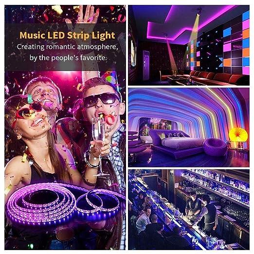 SXCLS Tira De Luz, Música Establecido De La Tira 5m Luz ...