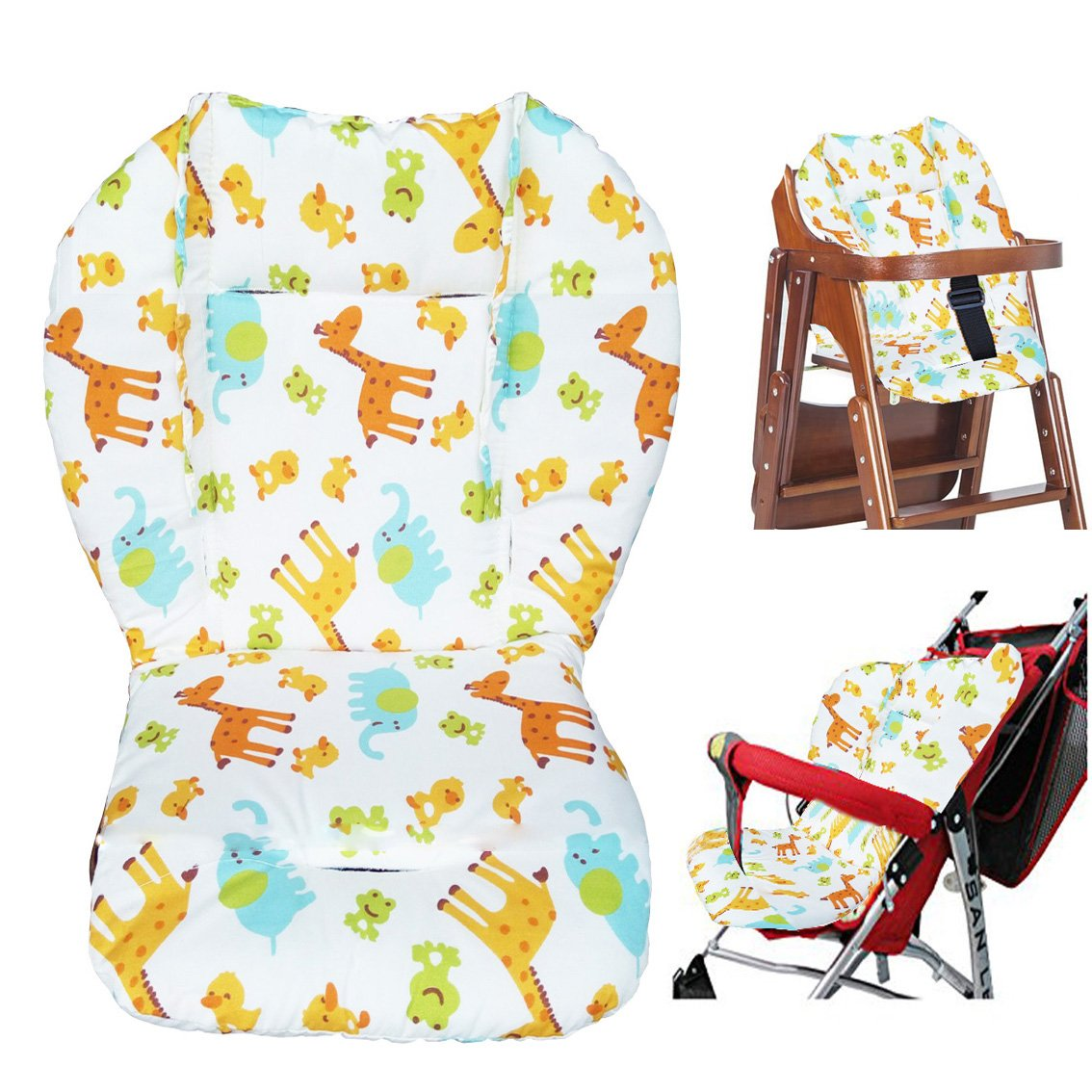 High Chair Pad, Amcho Baby Stroller/Highchair/Car Seat Cushion Protective Film Breathable Pad (Animal Pattern)