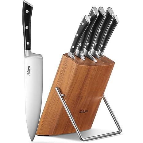 Amazon.com: Yabano KF-F8004 - Juego de 6 cuchillos de cocina ...
