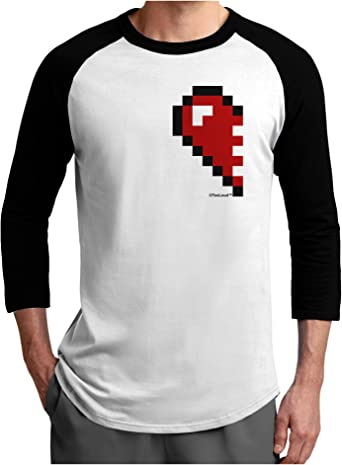 TooLoud Couples Pixel Heart Design Right Toddler T-Shirt