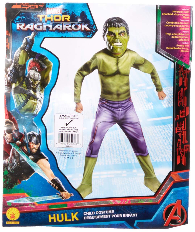 Avengers - Disfraz de Hulk Ragnarok para niños, Infantil 3-4 años (Rubies 640152-S)
