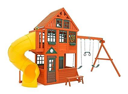 Amazon Com Preston Swing Play Set Cedar Summit Toys Games