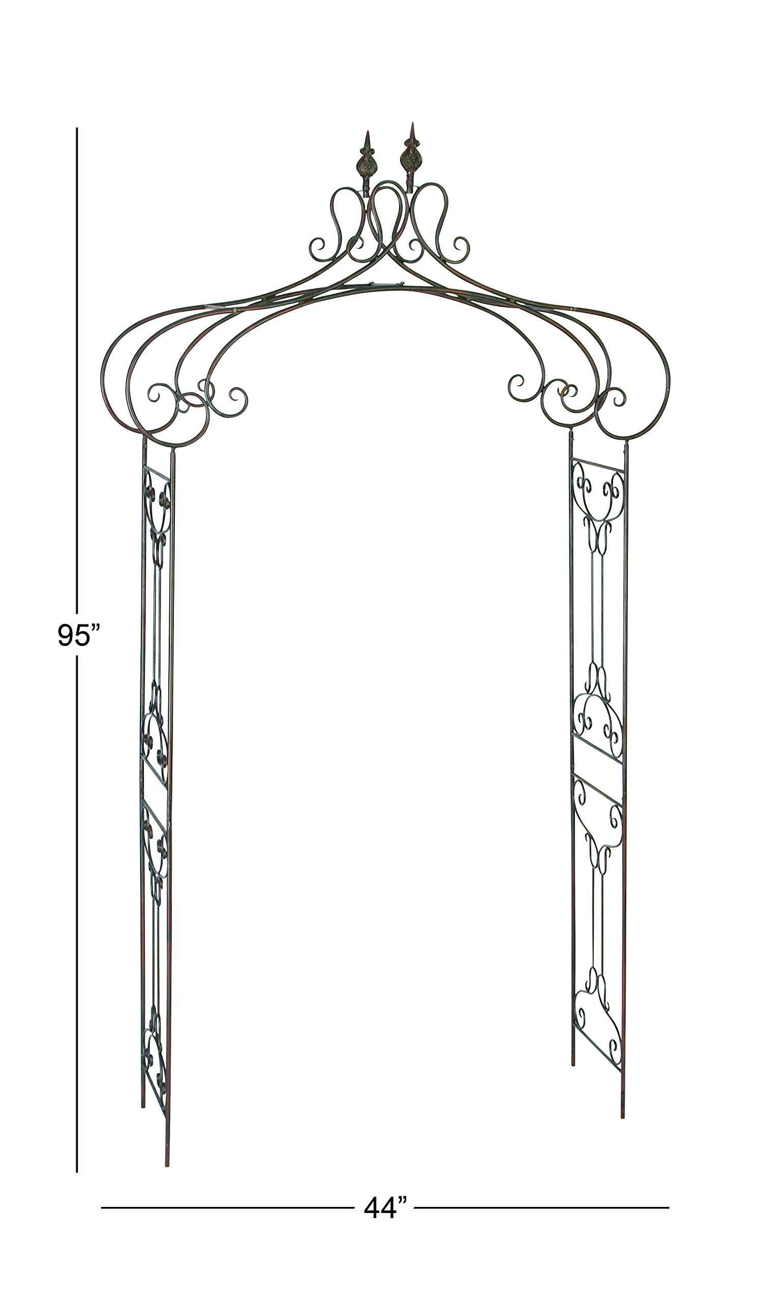 Deco 79 68701 Metal Garden Arch, 44 by 95-Inch