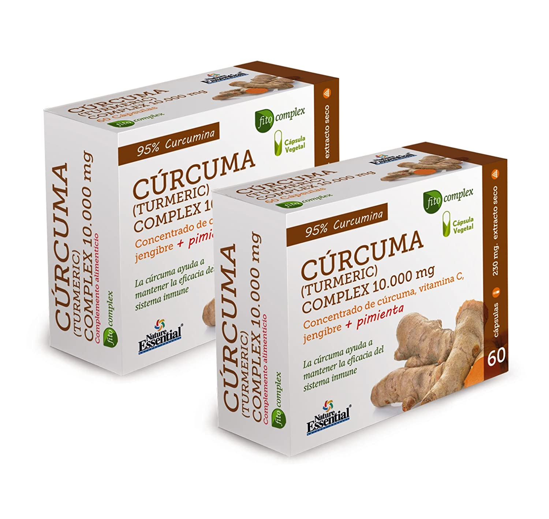 Curcuma (Turmeric) Complex 10.000 mg - Con cúrcuma, vitamina C, jengibre y pimienta negra - 60 Capsulas vegetales. (2 Unidades): Amazon.es: Salud y cuidado ...