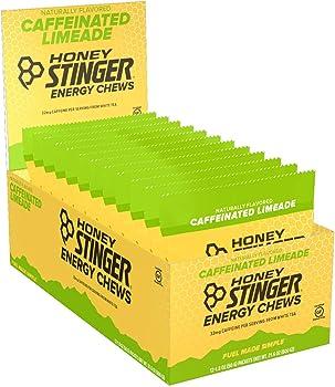 Honey Stinger 12-Packs of 1.8 Ounce Limeade Organic Energy Chews