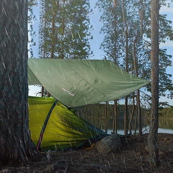 OUTAD Waterproof Camping Tarp Tent Footprint Mutifunctional Groundsheet Picnic and Beach Mat with Drawstring Carrying Bag