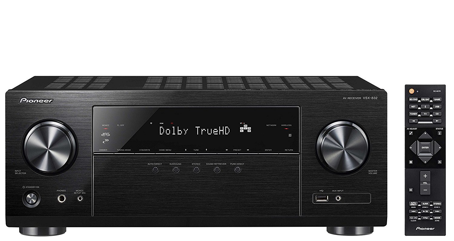 Pioneer Dolby Atmos-Ready Audio & Video Component Receiver Black (VSX-832)(Certified Refurbished)