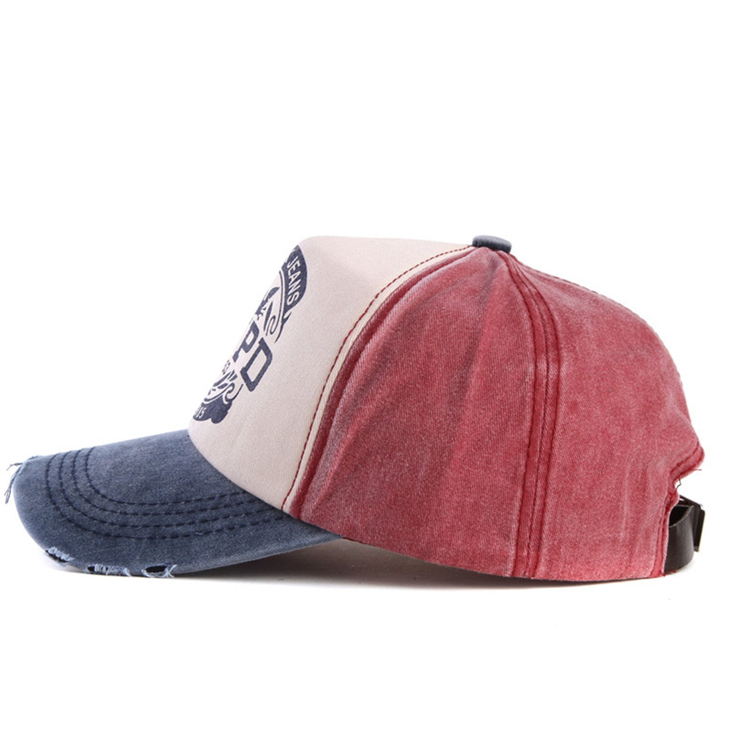 Amazon.com: baseball cap fitted hat Casual cap gorras 5 panel hip hop snapback hats wash cap unisex red and coffer 56to60cm: Health & Personal Care