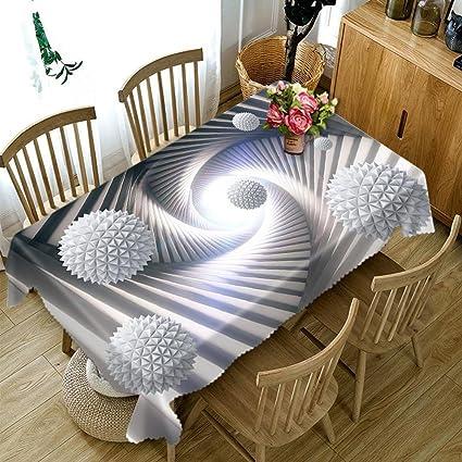 Huanzi Tovaglia Tovaglia Rettangolare 3d Da Tavolo Con Rivestimento Geometrico Antipolvere Round Diameter 180cm Amazon It Casa E Cucina