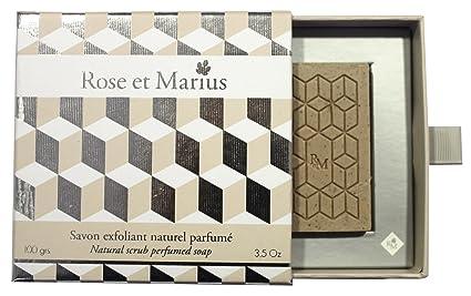 Rosa y Marius jabón grabado Natural perfumada Calisson 100 G