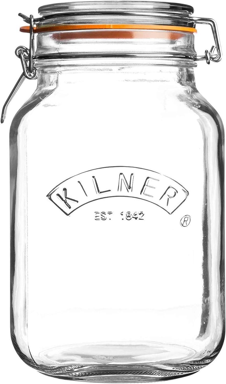 Kilner Round Clip Top Jar .5L Clear Glass Food Storage Solution Kitchen Home New