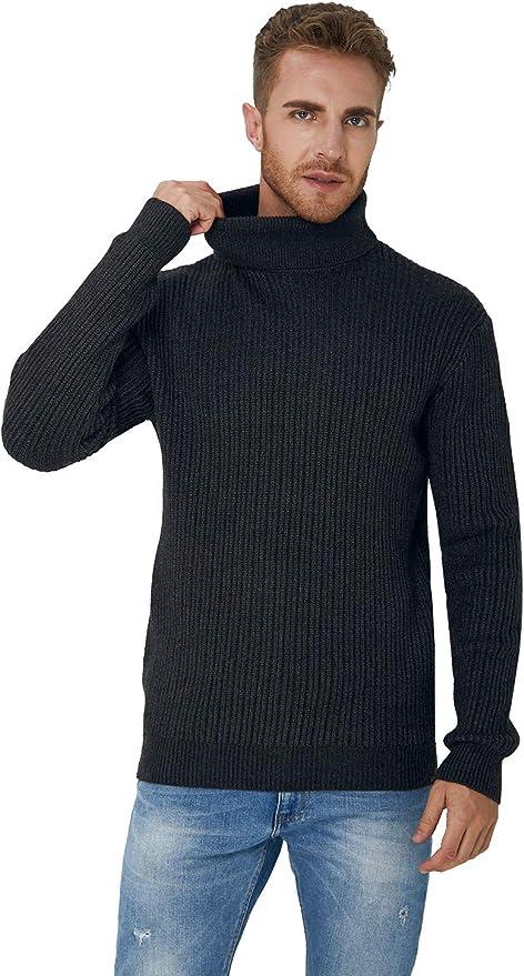 Megaman Herren Rollkragenpullover Pulli warm Slim Schnitt Winter Pullover