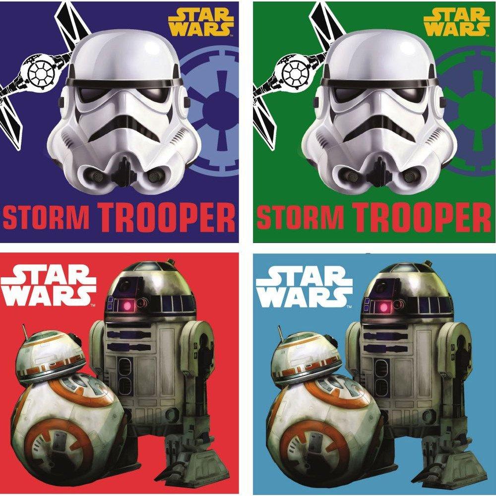 Star Wars: 4Set gaestetuech/Hand tuech/viso tuech/seiftuech//Lavette da bagno 30x 30cm, JAvoli
