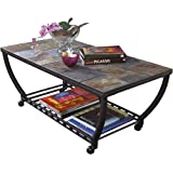 Amazon ashley furniture signature design antigo sofa table ashley furniture signature design antigo coffee table slate top with metal bottom cocktail watchthetrailerfo