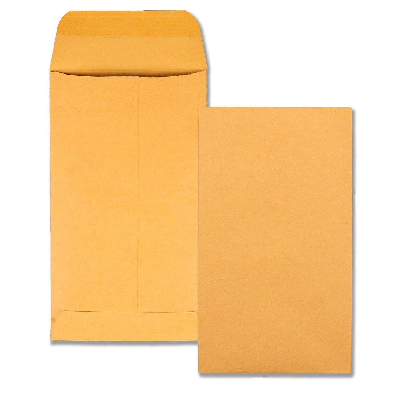 Kraft Coin  Small Parts Envelope, Side Seam, 5 1/2, Brown Kraft, 500/Box