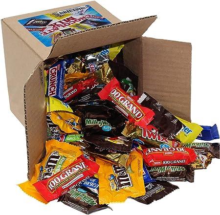 A Great Surprise Variedad chocolate Pack - tamaño divertido caramelo - todas las barras de Chocolate favorito incluyendo M & M, Snickers 4 Lb: Amazon.es: Hogar