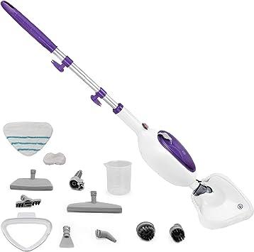 Escoba multifunción 12 en 1, escoba eléctrica con 4 paños incluidos, ideal para baño, cocina, alfombras, baldosas y cualquier superficie higiénica y limpia en profundidad (morado): Amazon.es: Hogar