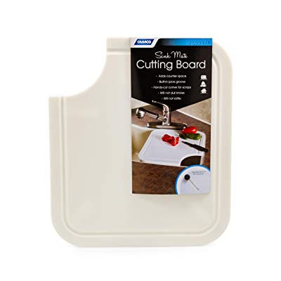 Camco Sink Mate Cutting Board - Designed For RV, Camper, and Trailer Kitchen Sinks- Create More Counter Space, Cut Corner for Scrap Release, Sturdy Design- White (43857): Automotive