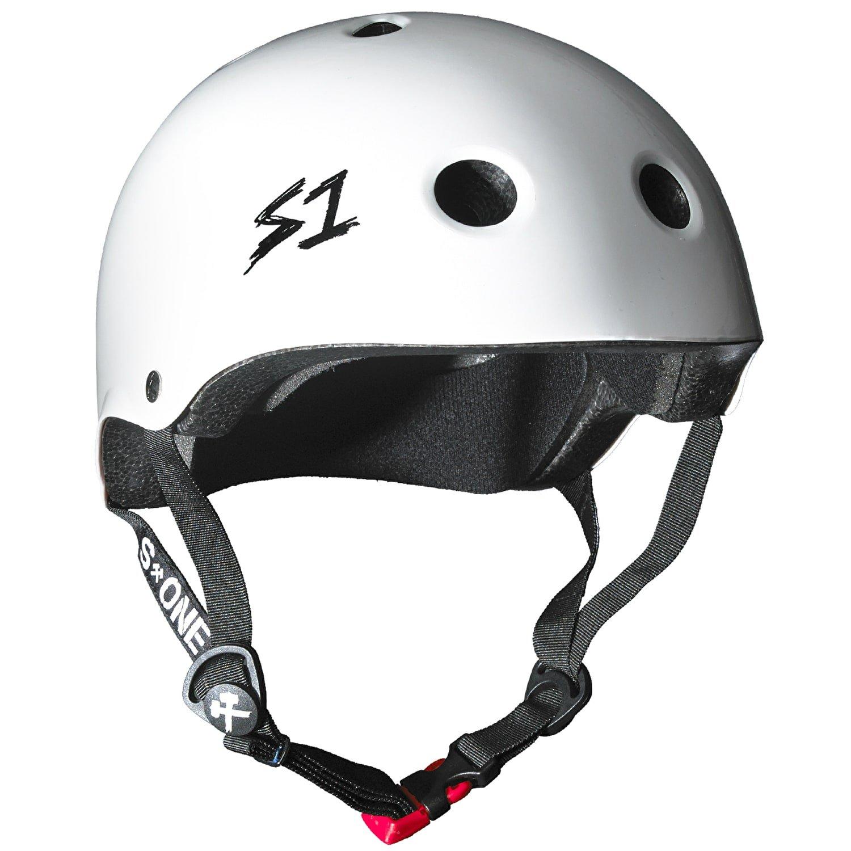 S1Mini Lifer Helm–Weiß glänzend