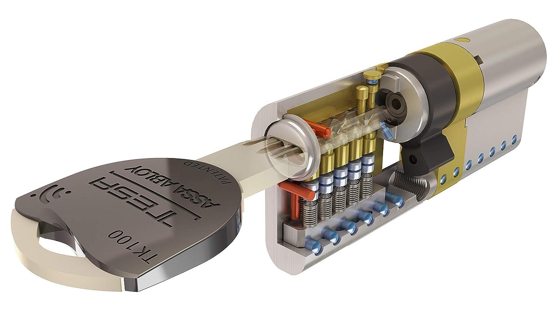 Tesa Assa Abloy TK154040N Cilindro de Alta Seguridad, Niquelado, 40 x 40 mm: Amazon.es: Bricolaje y herramientas