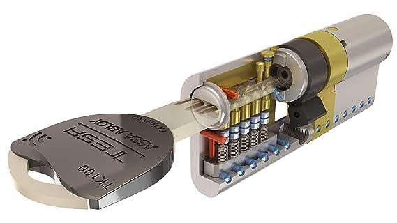 Tesa Assa Abloy TK154545L - Cilindro de alta Seguridad TK100, Latonado, 45 x 45 mm: Amazon.es: Bricolaje y herramientas