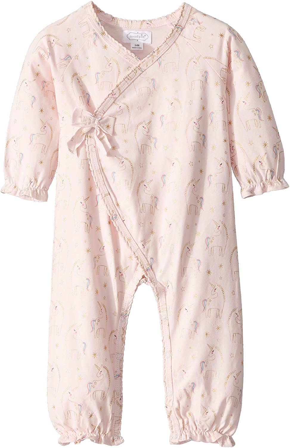 Mud Pie Baby Girls Unicorn Print Kimono One-Piece Infant