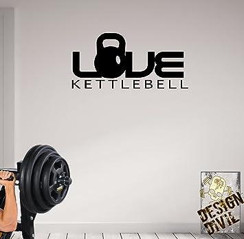 Pesa de gimnasia de motivación amor adhesivo wallkraft-salud y ...