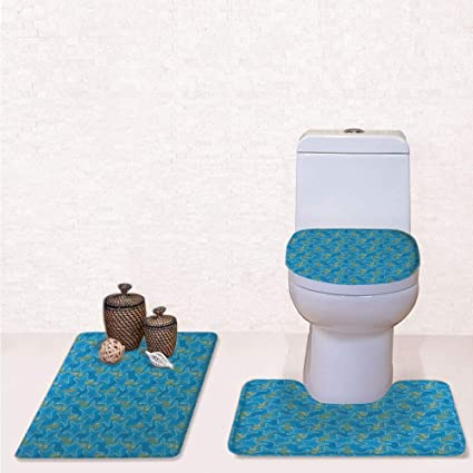 Magnificent Amazon Com Print 3 Pieces Bathroom Rug Set Contour Mat Gmtry Best Dining Table And Chair Ideas Images Gmtryco
