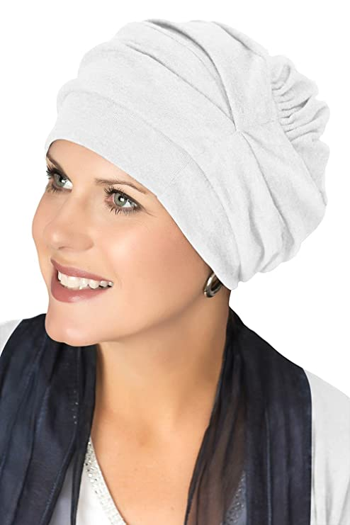 Image Unavailable. Image not available for. Colour  Headcovers Unlimited  Trinity Turban-Caps for Women with Chemo Cancer Hair Loss White bfe9861a69fc