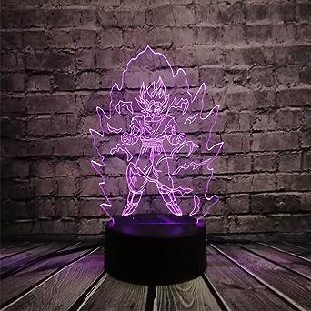 KangYD Saiyan Warrior Goku 3D Lamp, LED Night Light, Home Lighting ...