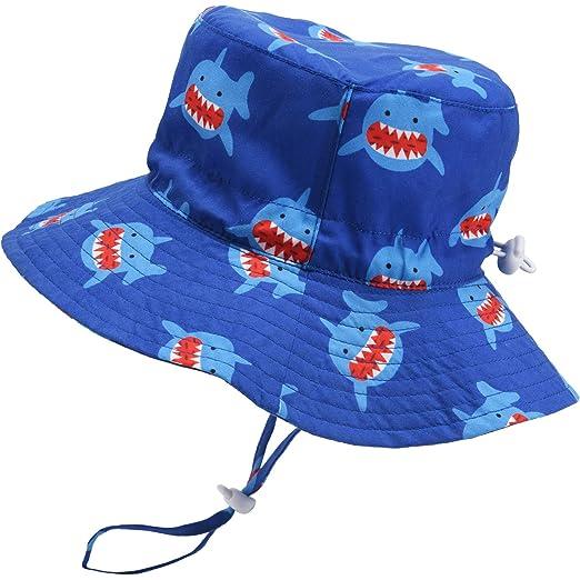 b0766c370 Amazon.com: Baby Sun Hat Adjustable Beach Hat Outdoor Toddler Hat ...