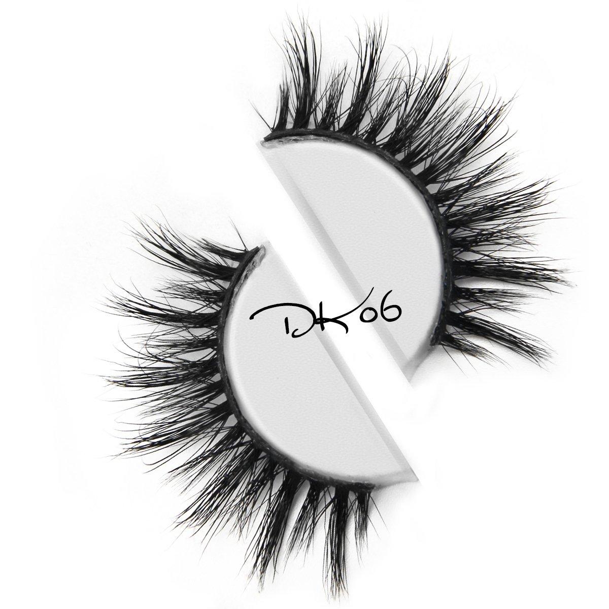 3D Mink Fur False Eyelashes Handmade Natural Lashes Women's Makeup Beauty Fake Lashes 1 Pair Per Package(DK06)