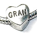 Charm Buddy Gran Grandmother Heart Charm for Charm Bracelets Ladies Womens