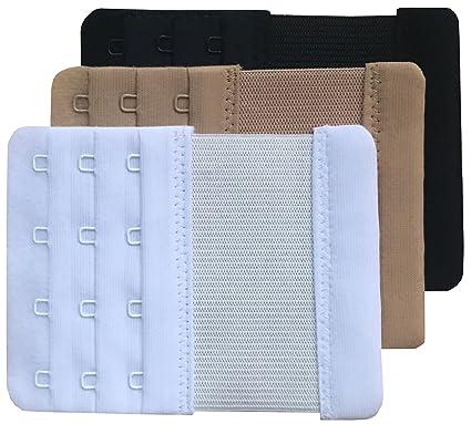 Chanie Femme Lot de 3 Doux Confortables Extensions de soutien-gorge 4  Crochets 42676283009