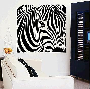 Creative Design Animal Zebra Kopf Abnehmbar Umweltfreundlich PVC Zitat Wand  Aufkleber Für Wohnzimmer Schlafzimmer Wandmalereien