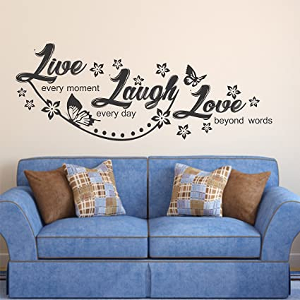 Luke and Lilly Quotes Design Vinyl Wall Sticker (130 * 50cm)