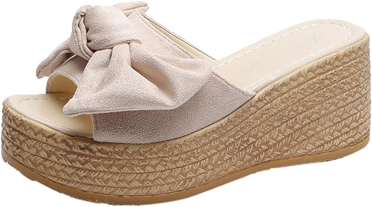 XQYPYL Damen Sandalen Flache Schuhe Sommer Frauen