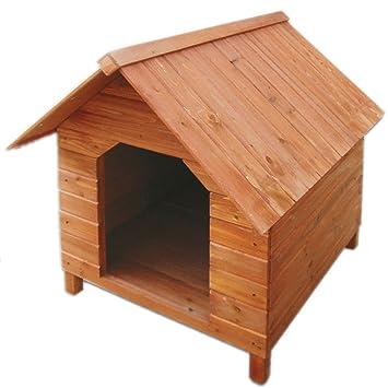 Caseta para perro de madera impregnada pequeño 64 x 68 x 76 cm STI
