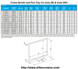 Elite Screens Frame Border & Pen Tray for Insta-DE