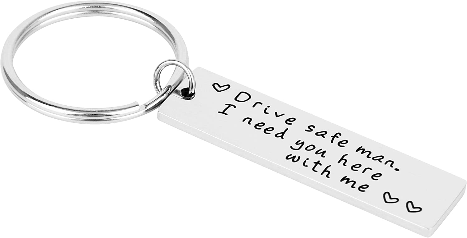 Key Holder Key Ring Drive Safe I Need You Here With Mekey Ring Stainless Steel Key Ring For Bag Chain Car Pendant Luggage