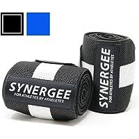 Synergee–Muñequeras 45,7cm Grado Profesional con orificio para el pulgar–Muñeca Apoyo Tirantes para Hombres y Mujeres–Levantamiento de Peso, Crossfit, Powerlifting, entrenamiento de fuerza