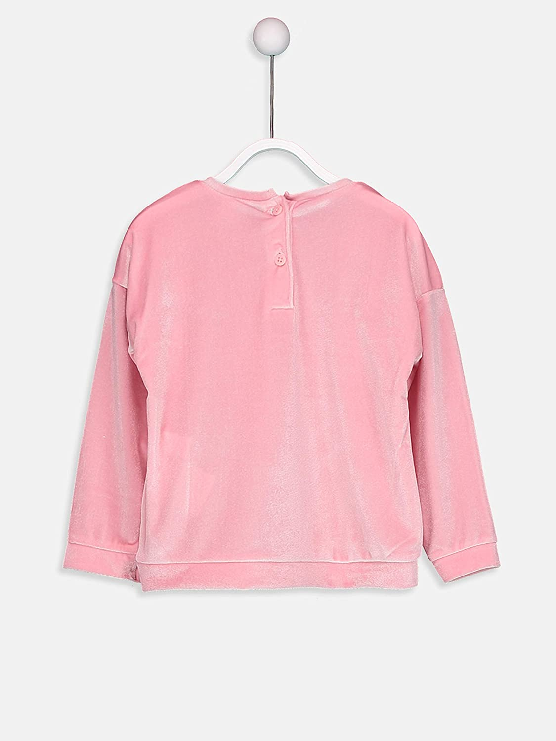 LC WAIKIKI Girls Long Sleeve Sweatshirt with Embroidery and Sequin Inlay Details