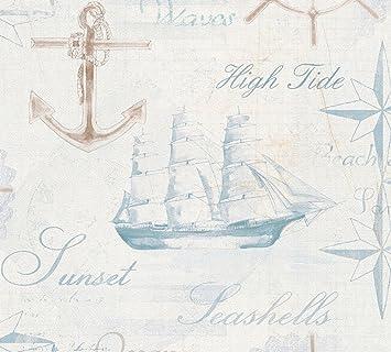 Tapete Maritim papiertapete livingwalls maritime tapete simply decor amazon de