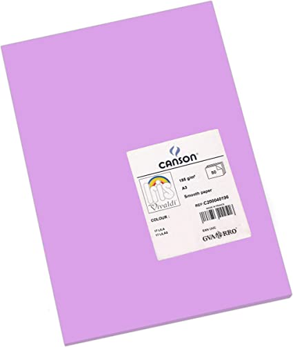 Oferta amazon: Canson Iris - Cartulina, 50 Unidades, Color Lila