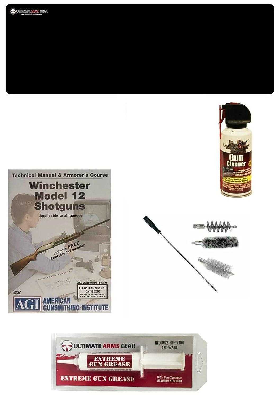 Amazon.com : AGI DVD Manual Course Winchester Model 12 Shotgun + Ultimate  Arms Gear Gunsmith Cleaning Gun Mat + 12 Gauge Shotgun Cleaning Kit Bore  Gun Rod ...