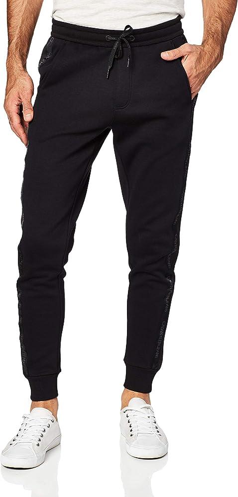 Calvin Klein Instit Tape Mix Media Pant Pantalones de chándal, CK ...