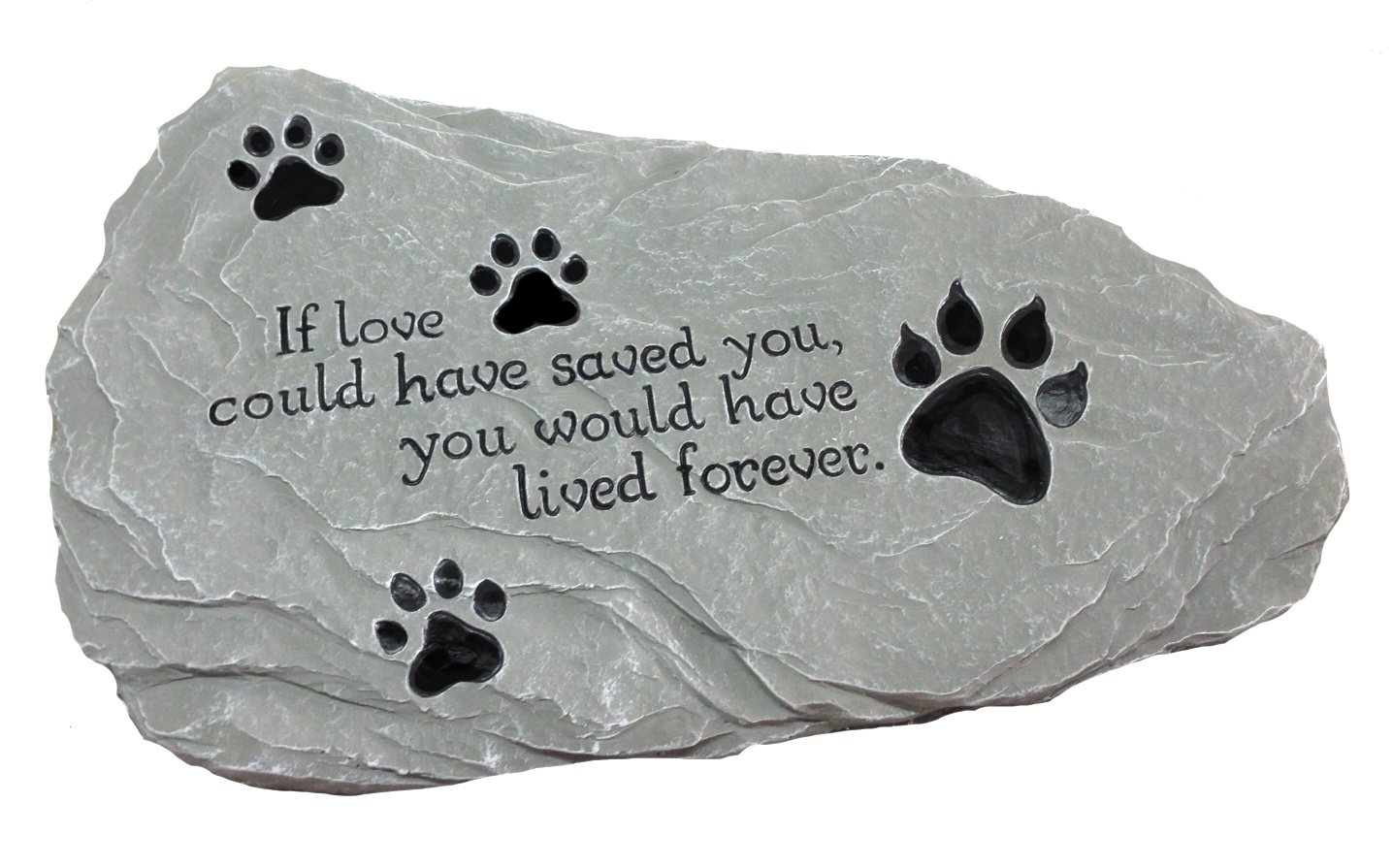 Pet Memorial Stone ''If Love Could Have Saved You...'' EXCLUSIVE Design